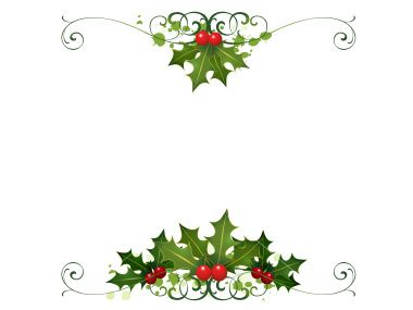 Holly clipart banner. Christmas borders for word