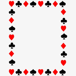 Cards clipart boarder. Card border playing free