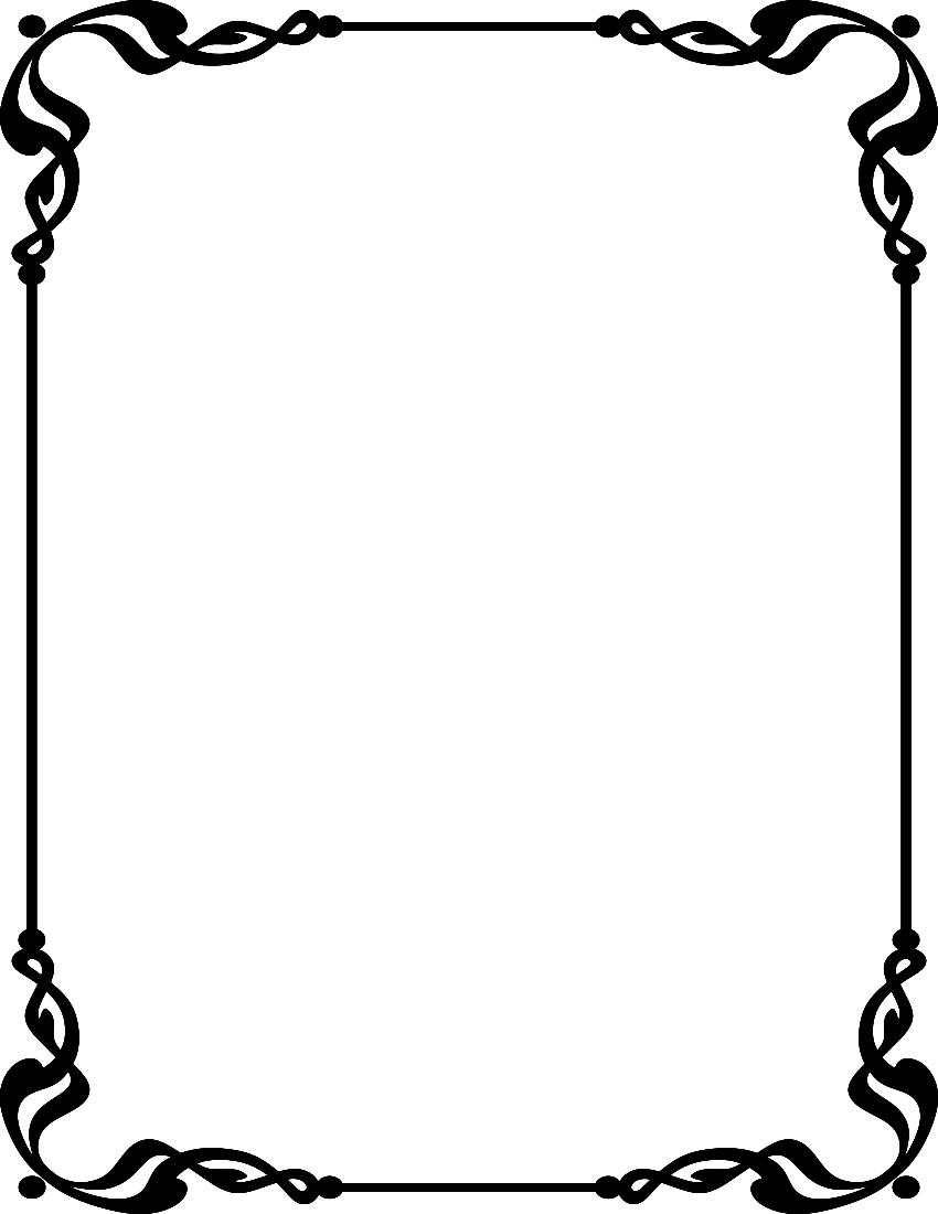 Cards clipart border. Card corner designs free