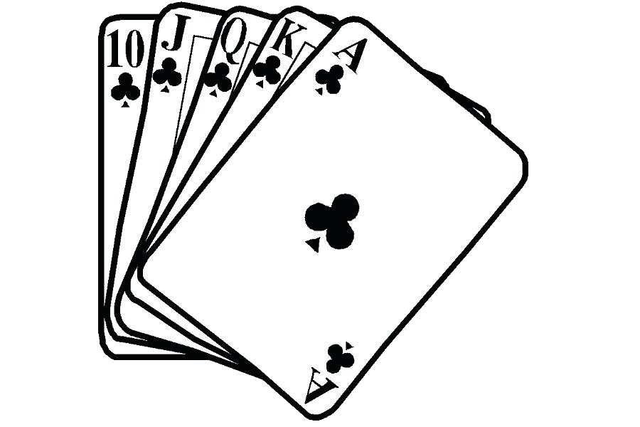 Cards clipart black and white. Playing contract bridge card
