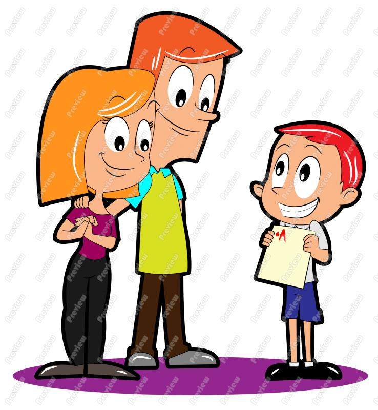 Card clipart cartoon. Boy student with report