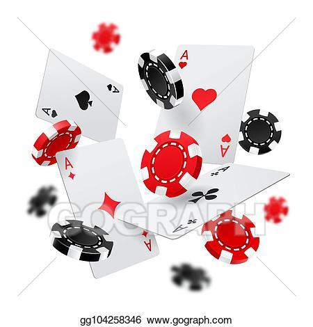 Vector illustration banner with. Poker clipart casino las vegas