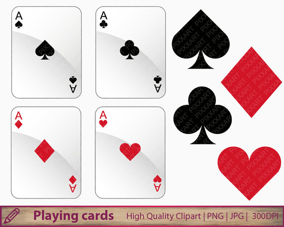 Playing suits clip art. Cards clipart casino card