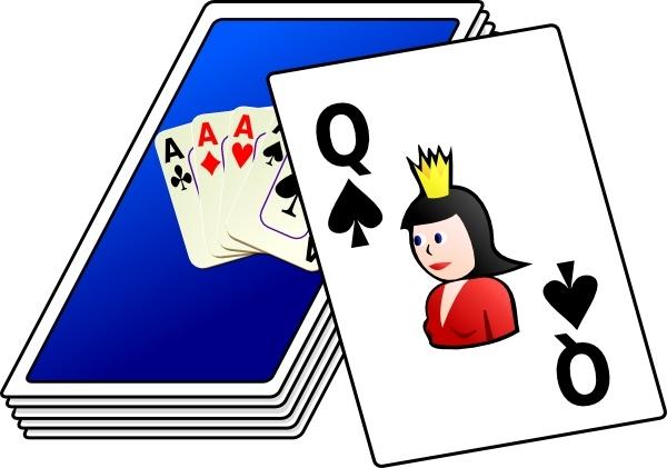 Clip art free vector. Cards clipart deck