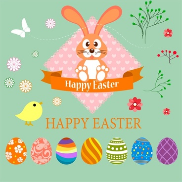 Bunny vector free download. Cards clipart easter