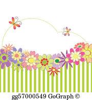 Card clipart flower. Vector art spring summer