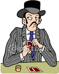 Old west gambler royalty. Cards clipart gamble