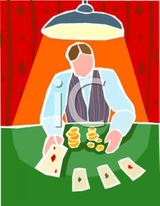 Casino clipart deck card. A dealer and cards