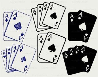 Gambling etsy cards svggambling. Card clipart gamble