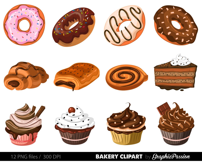 Desserts clipart baked goods. Bakery cake clip art