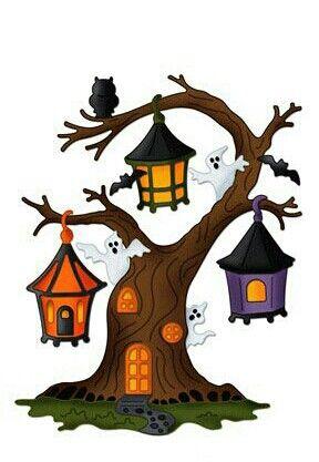 Card clipart halloween.  best cards houses
