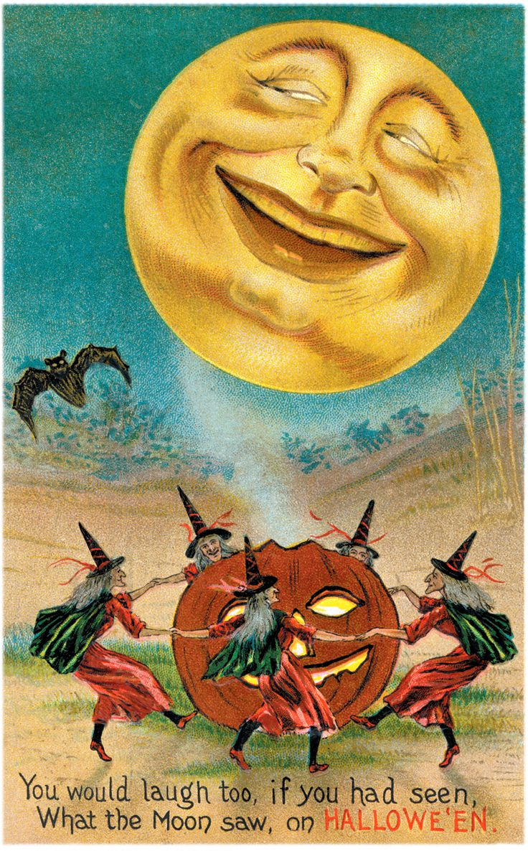 best vintage illustrations. Card clipart halloween