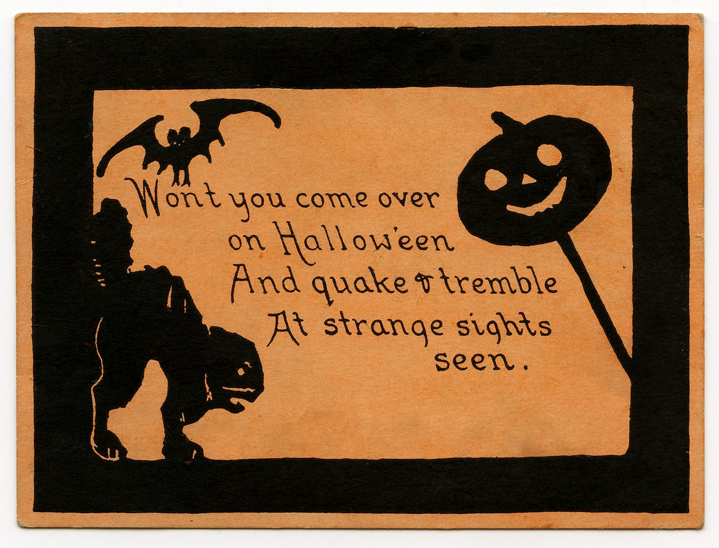 Vintage clip art cute. Card clipart halloween