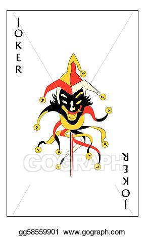 Card clipart joker. Vector stock playing illustration