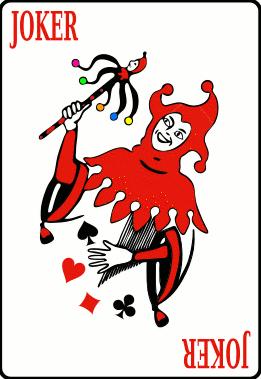 . Cards clipart joker