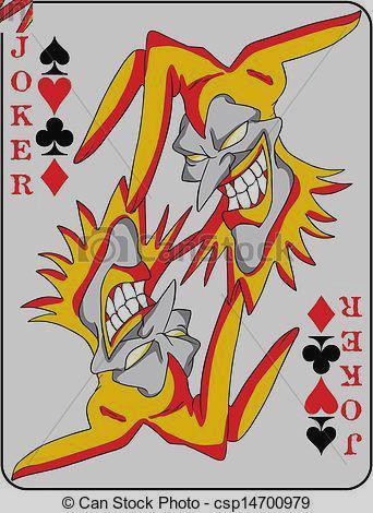 . Card clipart joker