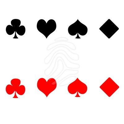 Card clipart playing. Symbols