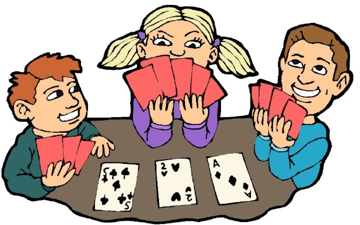 People cards . Card clipart playing