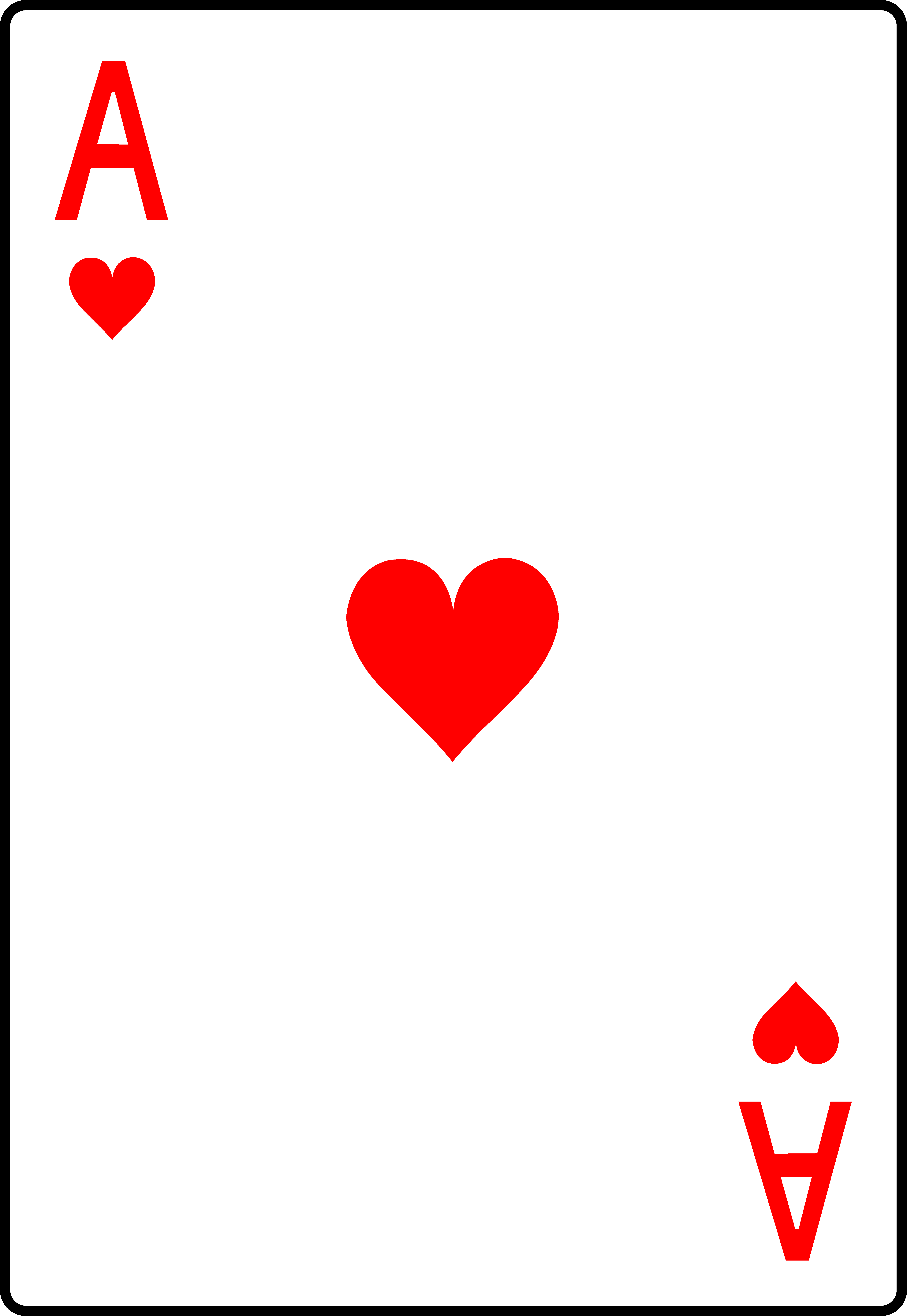 Ace of hearts free. Card clipart playing