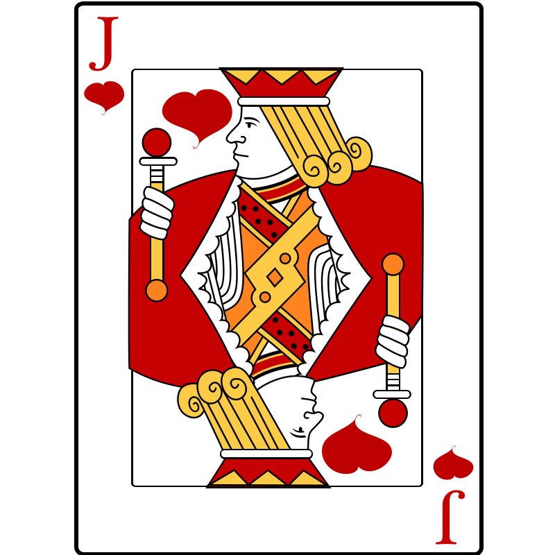 Want clipart card. Playing cards free jack