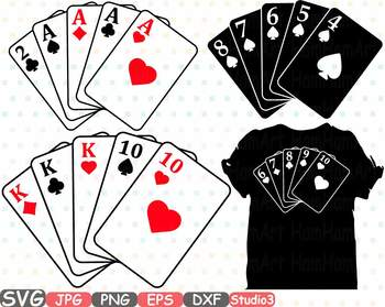 Card clipart poker. Cards silhouette svg full