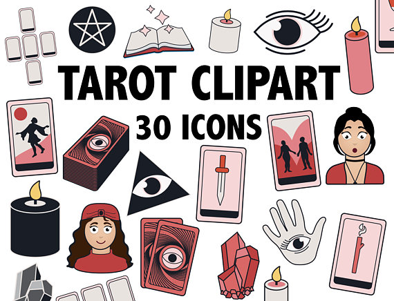 Tarot occult wicca and. Cards clipart printable