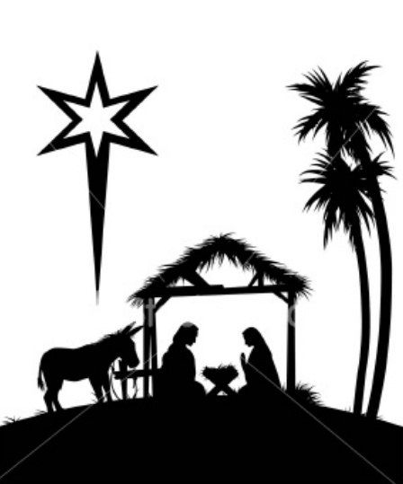 Nativity at getdrawings com. Card clipart silhouette