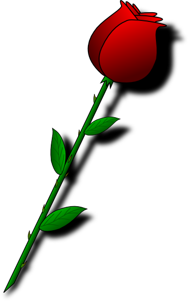 Valentine card craft projects. Clipart rose single