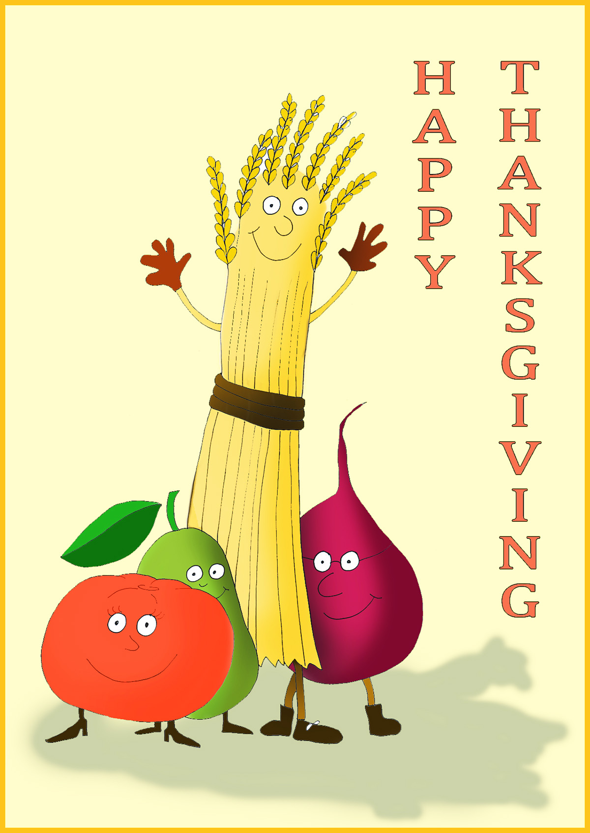 Happy and poems card. Cards clipart thanksgiving