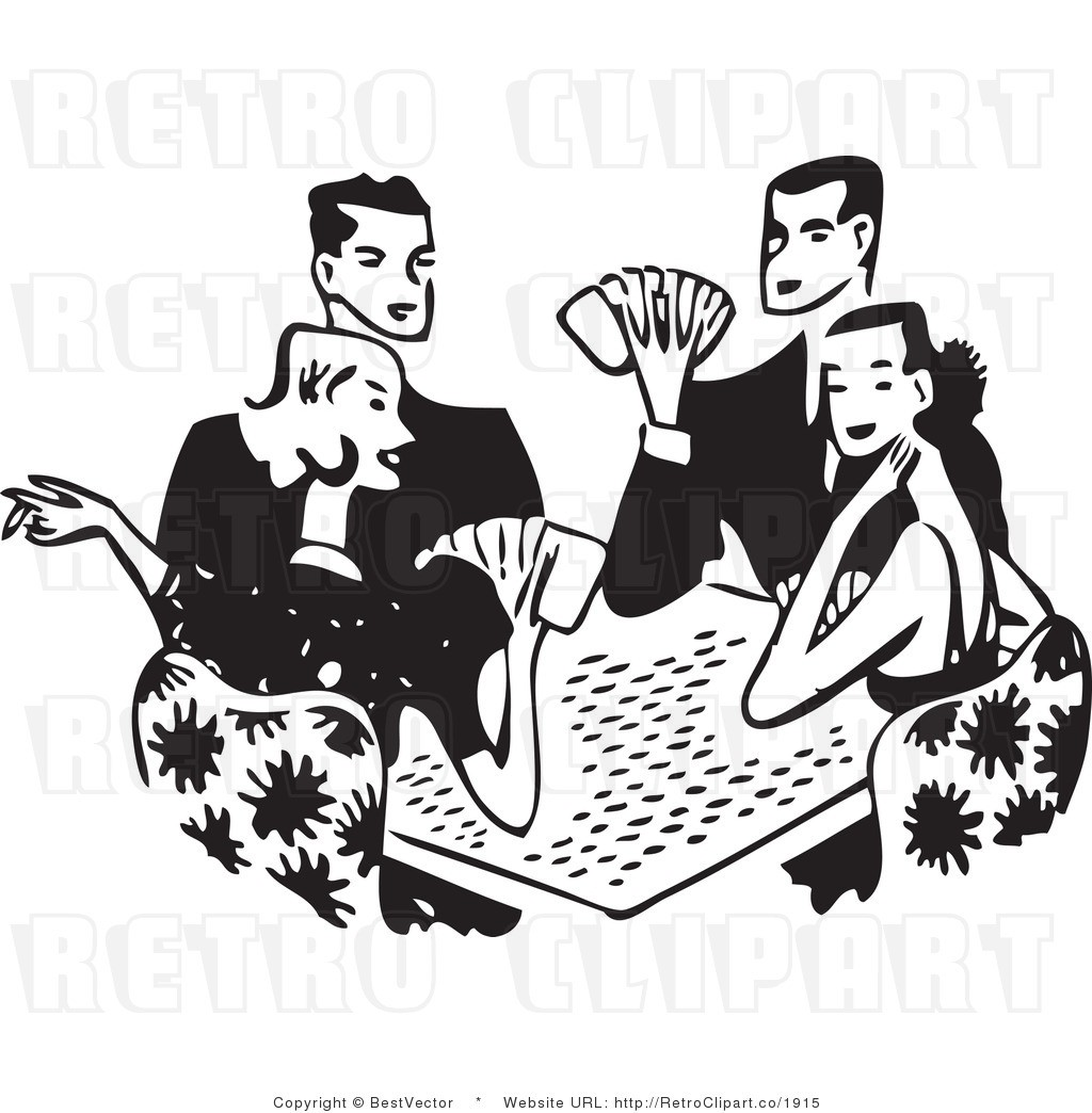 Cards clipart vector. Card game for alluring