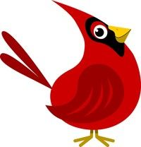 Cardinal clipart. Google search volleyball pinterest
