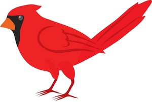Red cartoon download. Cardinal clipart animated
