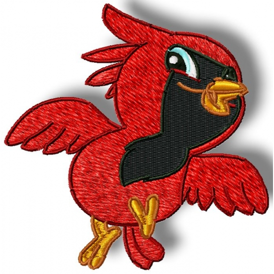 Cardinal clipart baby. Pamela s embroidery cute