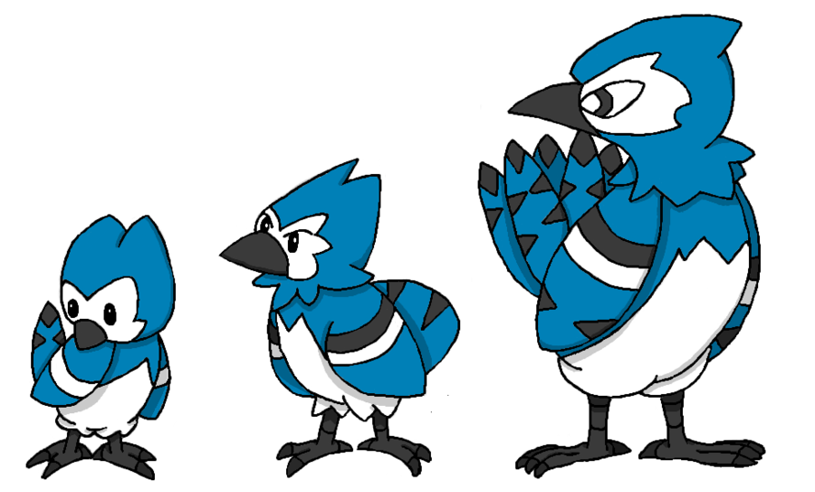 Cardinal clipart blue jay. Ansho fakemon line by