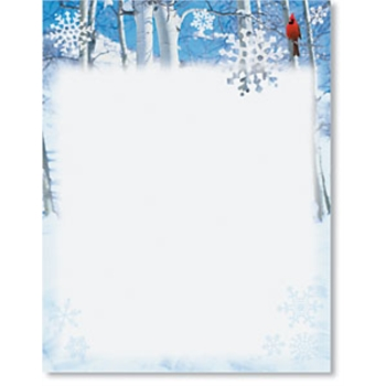 Winter border paper printable. Cardinal clipart borders