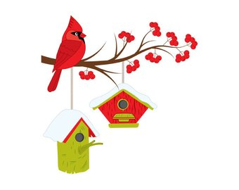 Etsy christmas on digital. Cardinal clipart branch clipart