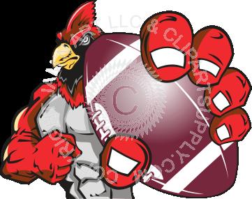 Holding . Cardinal clipart cardinal football