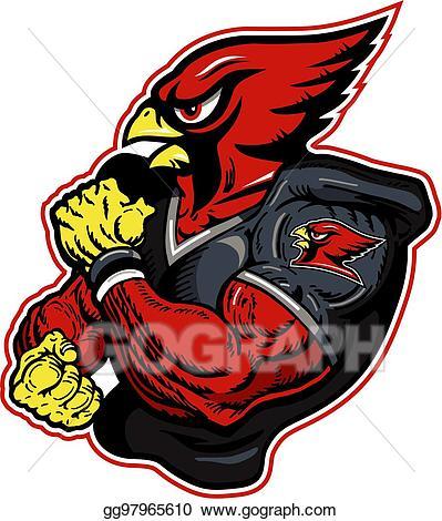Cardinal clipart cardinal football. Vector stock illustration