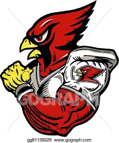 Cardinal clipart cardinal football. Vector illustration player eps