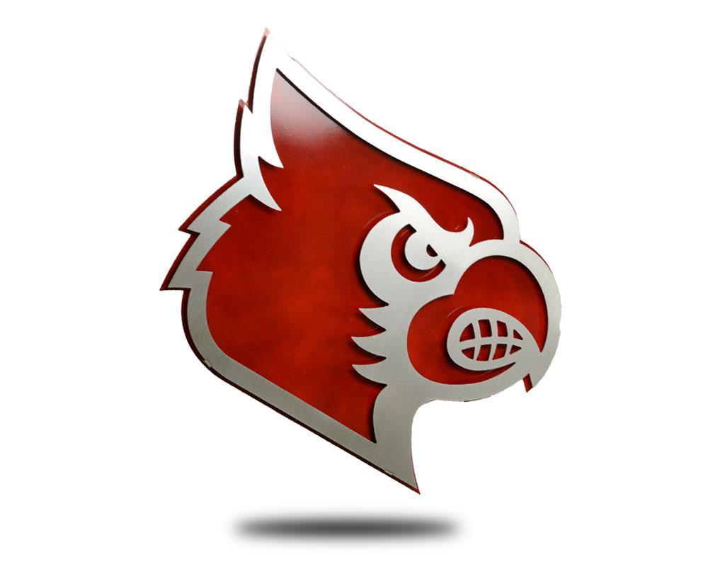 University of louisville stainless. Cardinal clipart cardinal head