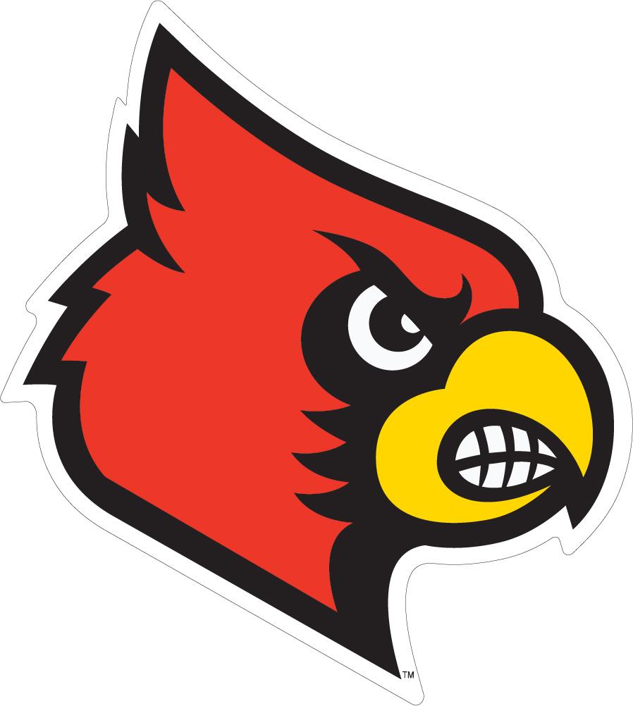 Cardinal clipart cardinal head.  louisville vinyl decal