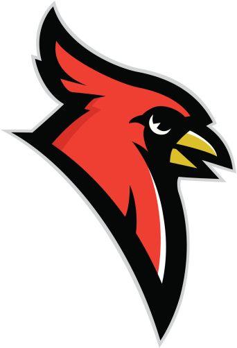 Cardinal clipart cardinal head. Mascot vector art illustration