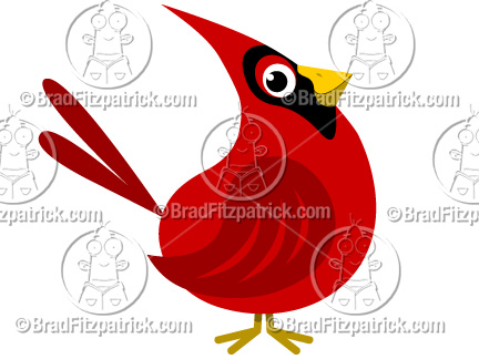 Clip art graphics vector. Cardinal clipart cartoon
