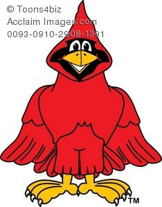 Smiling . Cardinal clipart cartoon