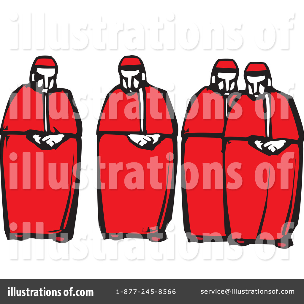 Cardinal clipart church. Catholic illustration by xunantunich