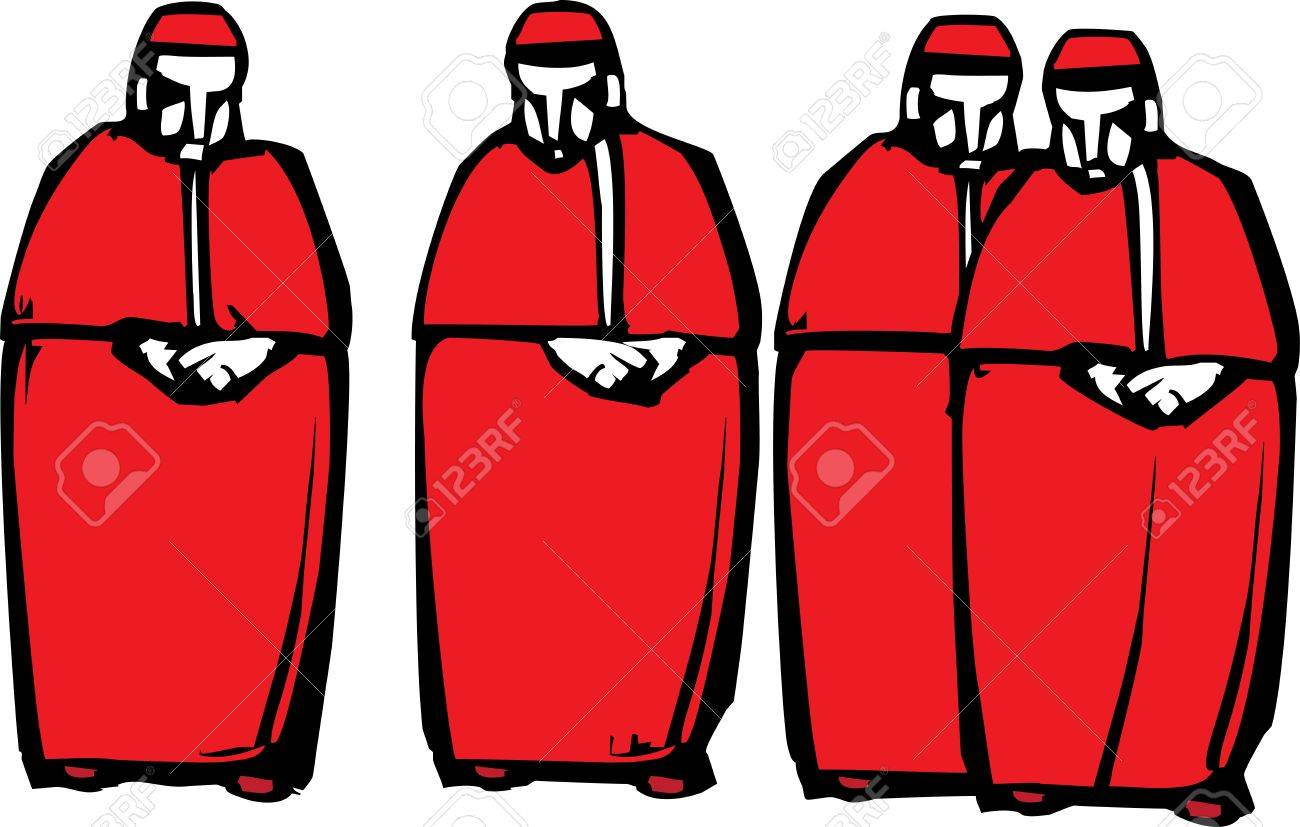 Cardinal clipart church. Catholic clipartuse woodcut style