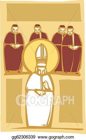 Vector art pope and. Cardinal clipart church