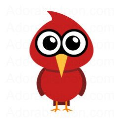 From adorabletoon com u. Cardinal clipart cute