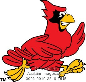 Cardinal clipart cute. Cartoon running
