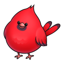 Cardinal clipart cute. Pin on aplique